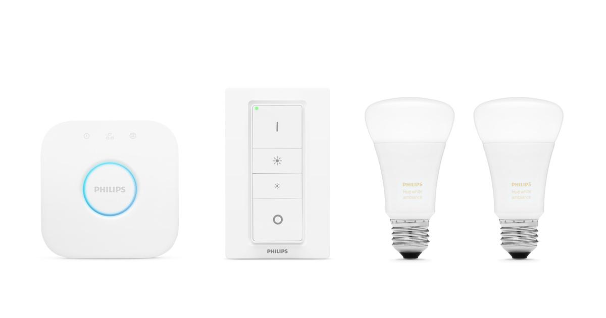 Philips Hue White Ambiance Lighting Starter Kit E27