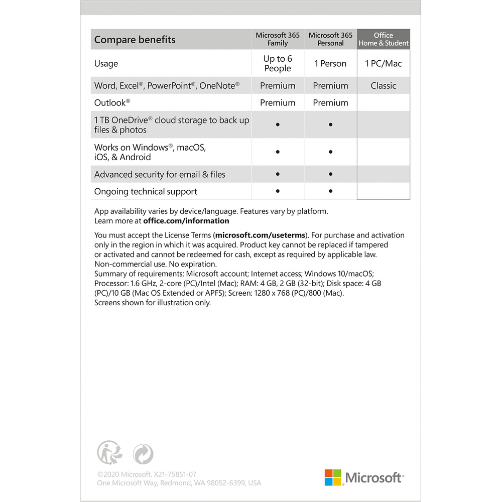 Microsoft office for home and student mac