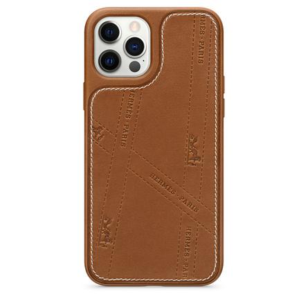 Custodia MagSafe in pelle Bolduc di Hermès per iPhone 12|12 Pro
