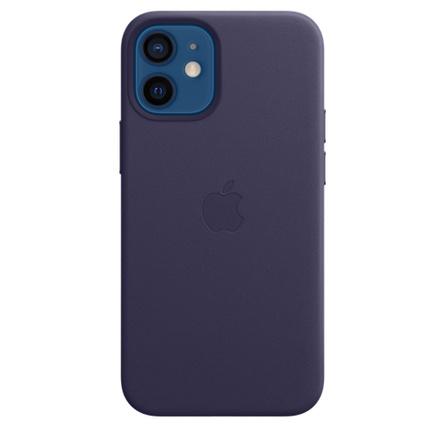 Étui en cuir avec MagSafe pour iPhone 12 mini - Violet profond
