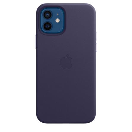 Étui en cuir avec MagSafe pour iPhone 12   12 Pro - Violet profond