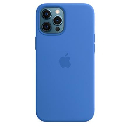 Custodia MagSafe in silicone per iPhone 12 Pro Max - Azzurro Capri