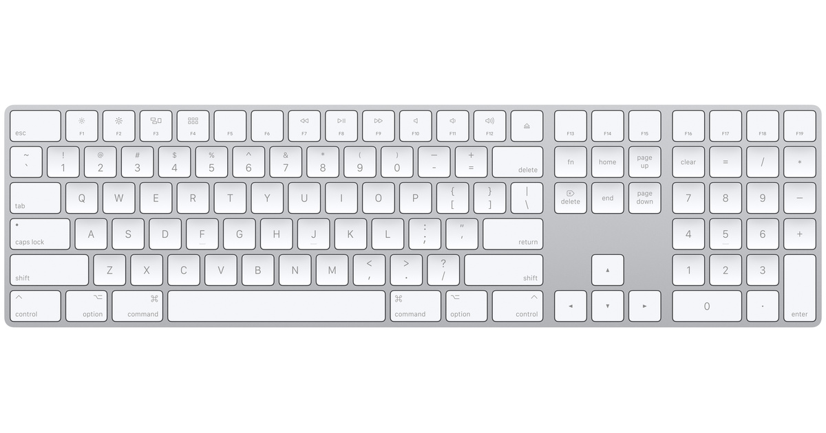 Buy Magic Keyboard with Numeric Keypad for Mac in Silver