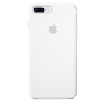 Étui en silicone pour iPhone 8 Plus / 7 Plus - Blanc