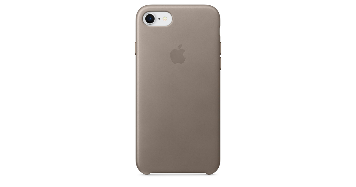 sale retailer 37f33 9bd6b iPhone 8 / 7 Leather Case - Taupe