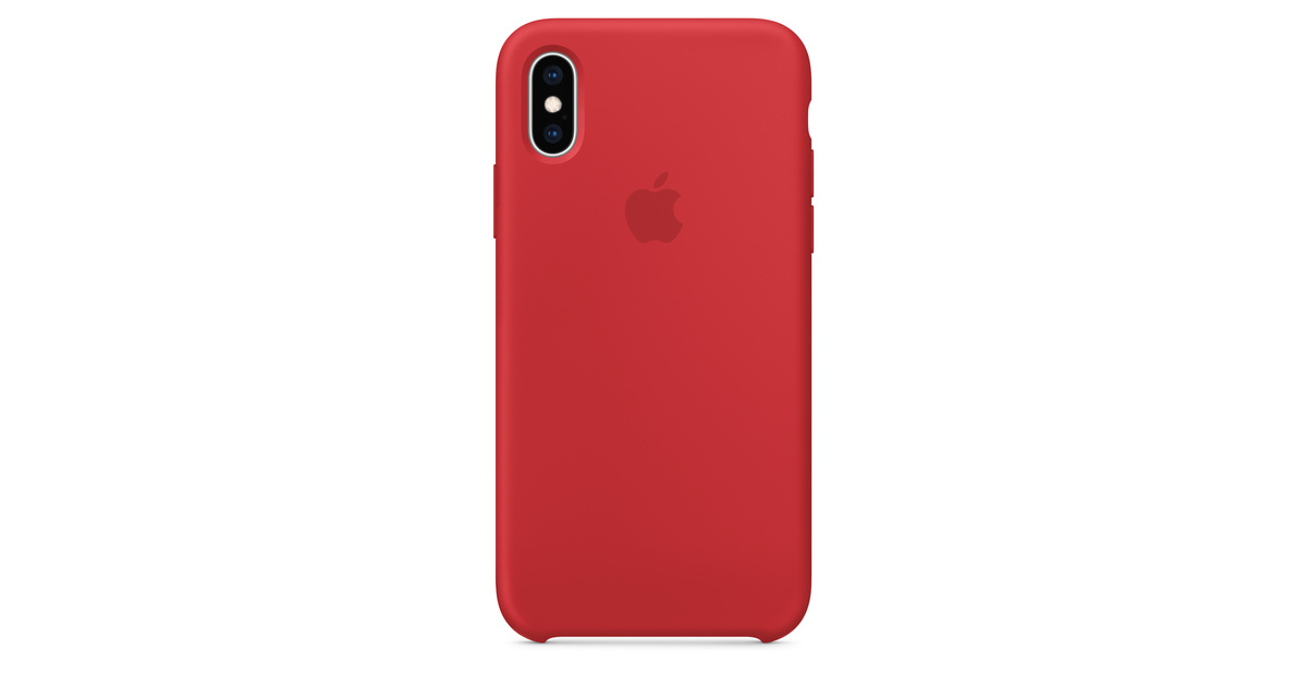 finest selection b2ea6 a3ce4 iPhone XS Silicone Case - (PRODUCT)RED