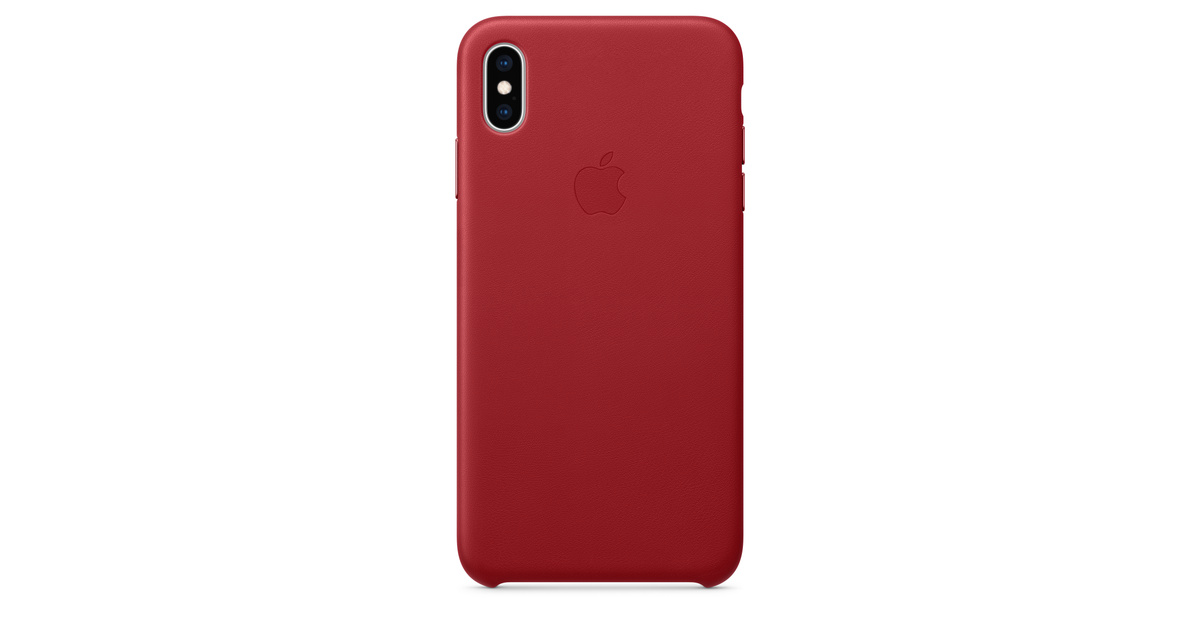the best attitude b68c7 4a2b4 iPhone XS Max Leather Case — (PRODUCT)RED