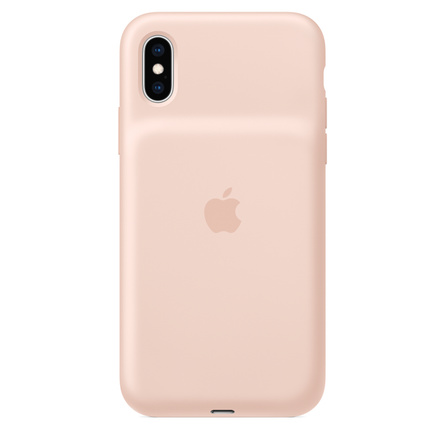 Smart Battery Case per iPhone XS - Rosa sabbia