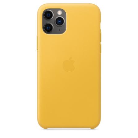 Custodia in pelle per iPhone 11 Pro - Limone scuro