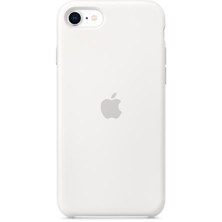 Étui en silicone pour iPhone SE - Blanc